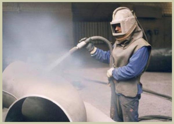 Заказать Пескоструйная обработка трубопроводов и труб