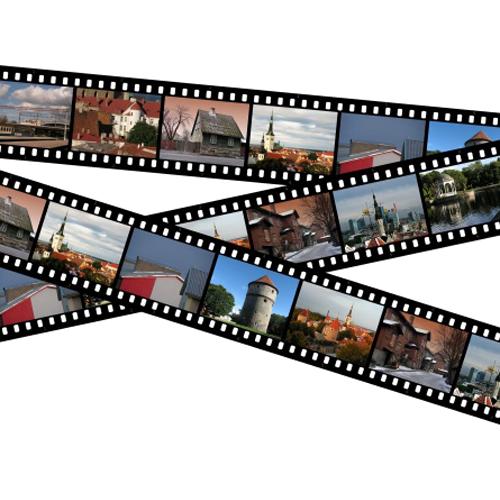 Как создать пленочный слайд