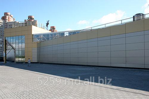Заказать Облицовка фасада композитными аллюминиевыми панелями