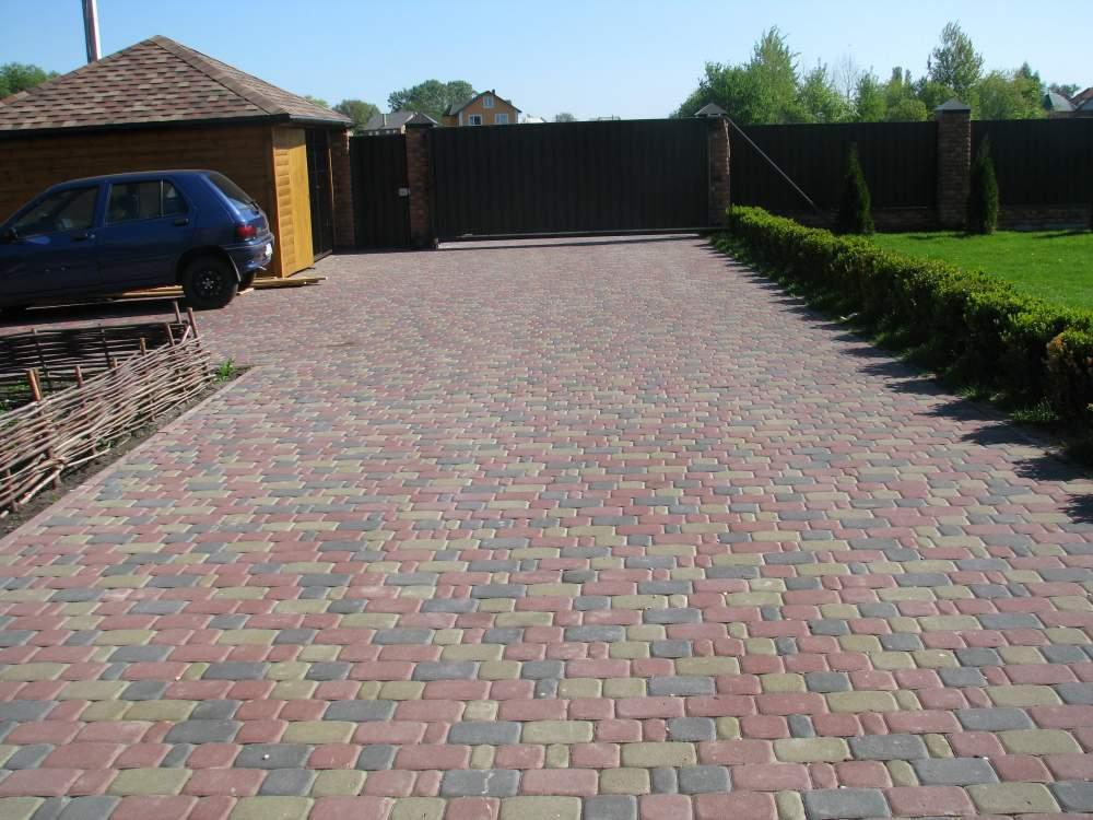 Как сделать двор из тротуарной плитки 670