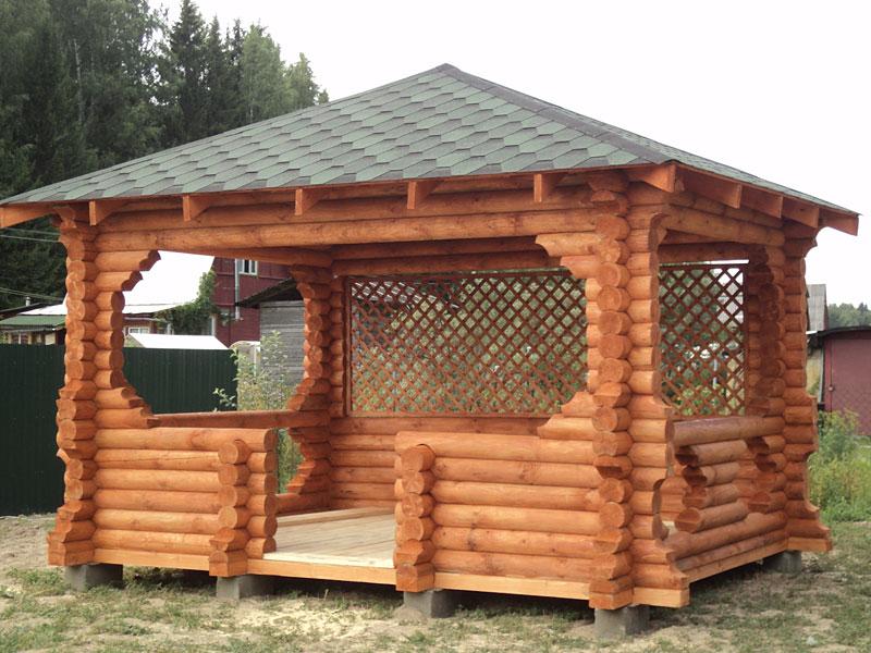 Заказать Установка деревянных беседок