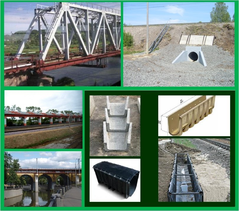 Order Construction of small artificial constructions on the railroads