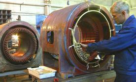Заказать Ремонт промышленных электродвигателей переменного тока