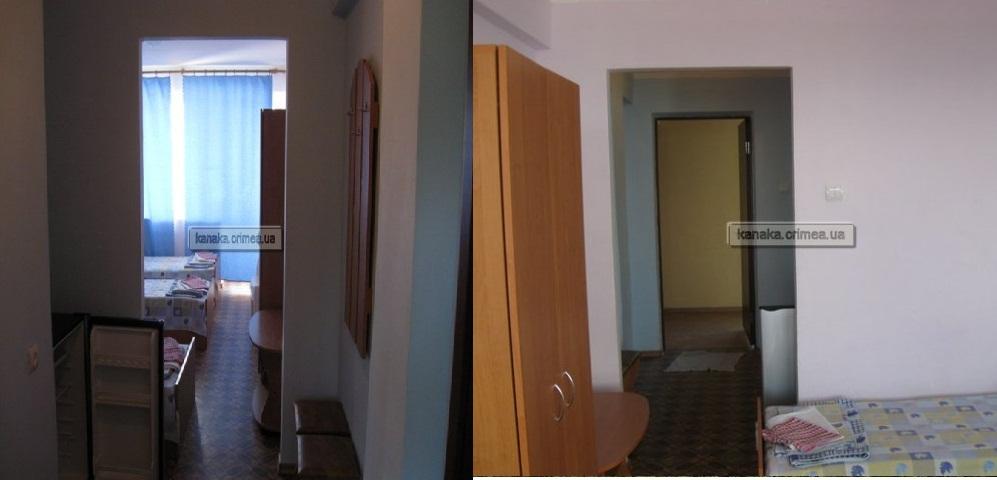 Заказать Гостиничные номера: трехместные стандарт 2-3х местный номер, 2, 3, 4, 5 -й этажи, ЛЕВОЕ крыло, однокомнатный