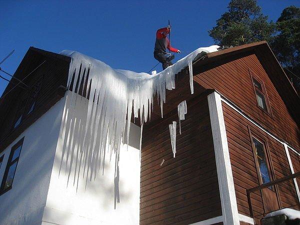 Заказать Очистка крыш от снега