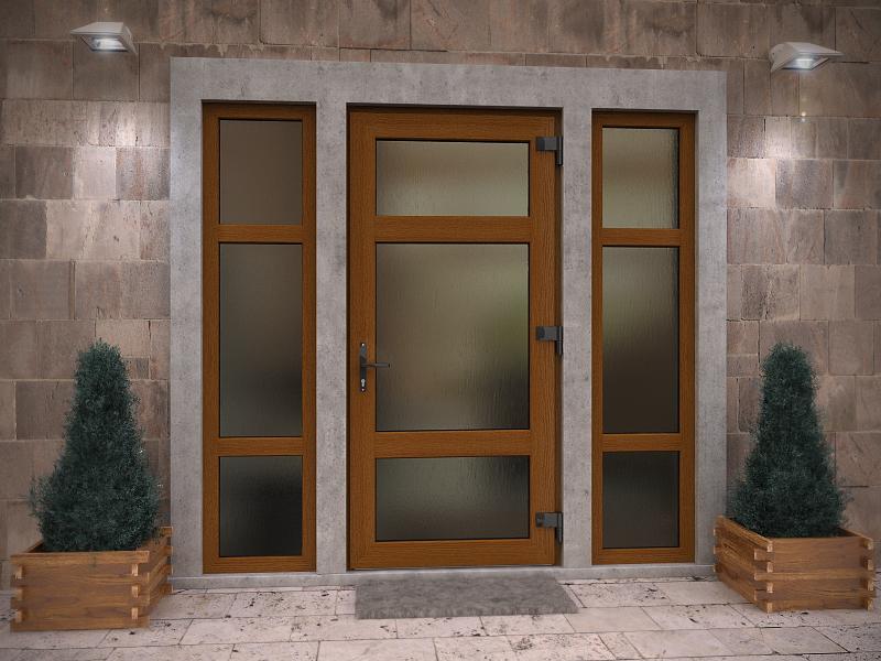 Заказать Изготовление и установка входных металлопластиковых дверей