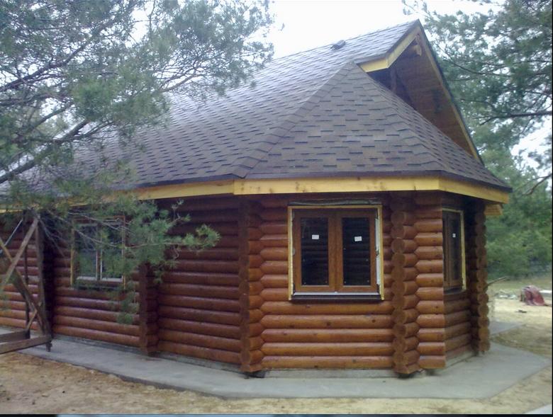 Заказать Строительство домов из оцилиндрованного бруса в Украине