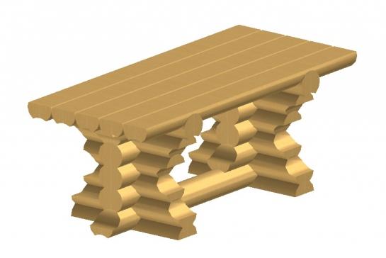 Заказать Изготовление стола из оцилиндрованного бруса