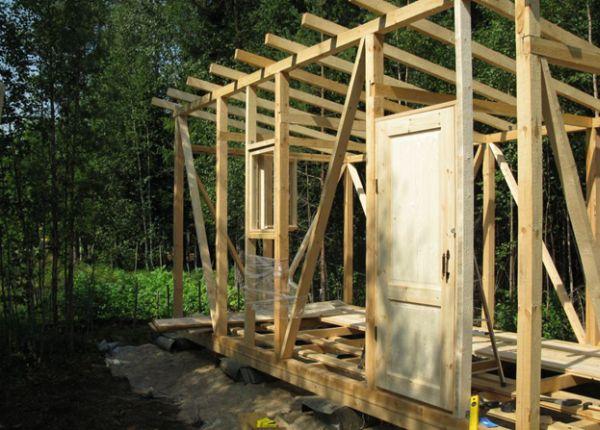 Строительство деревянной бытовки своими руками 72