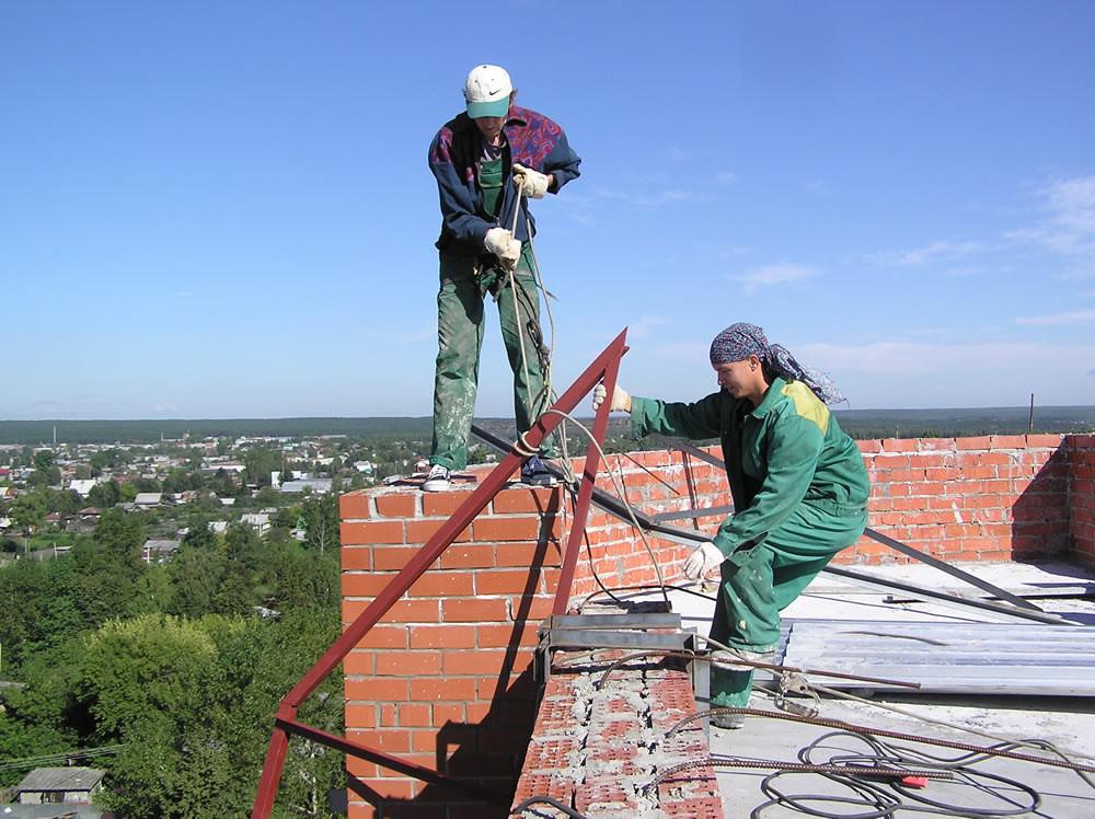 Монтаж конструкций на высоте
