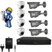 Видеонаблюдение Оптимум 8 камер для дома