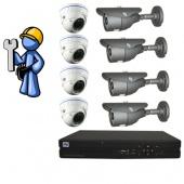 Видеонаблюдение Оптимум 8 камер для производства