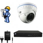 Видеонаблюдение Эконом 1 камера для квартиры, офиса