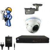 Видеонаблюдение Эконом 2 камеры для дома