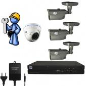 Видеонаблюдение Эконом 4 камеры для дома
