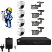 Видеонаблюдение Эконом 8 камер для дома