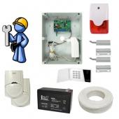 Охранная сигнализация Стандарт для загородного дома с GSM-дозвоном