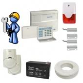 Охранная сигнализация Стандарт для загородного дома со сдачей на пульт центрального наблюдения