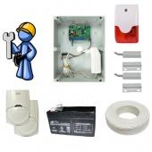 Охранная сигнализация Эконом для загородного дома с GSM-дозвоном