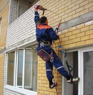 Заказать Фасадные работы на высоте, высотные отделочные работы