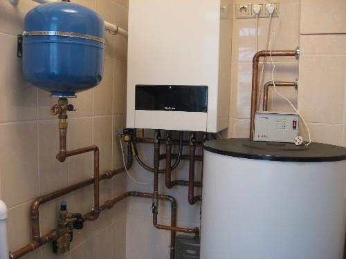Заказать Установка газового котла до 55 кВт и бойлера косвенного нагрева до 300л