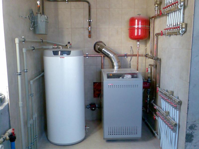 Заказать Установка газового котла свыше 55 кВт и бойлера косвенного нагрева свыше 300л