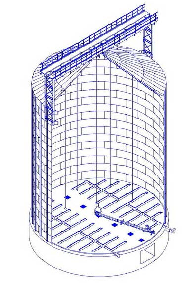 Заказать Металлические оцинкованные силосы-хранилища с активным вентилированием типа СМВУ