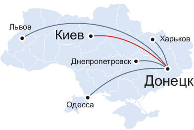 Перевозчики на Донецк