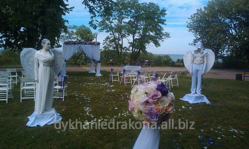 Заказать Свадебные ангелы ! Живые статуи на Вашей свадьбе !