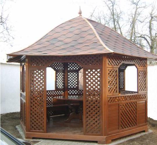Заказать Строительство деревянной беседки Киев Харьков Украина