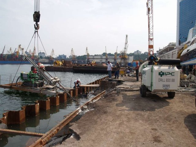 Работы по берегоукреплению Одесса область