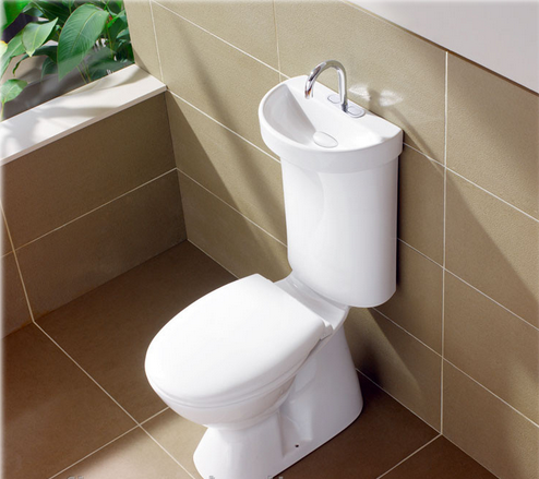 Installation and connection of a floor toilet bowl