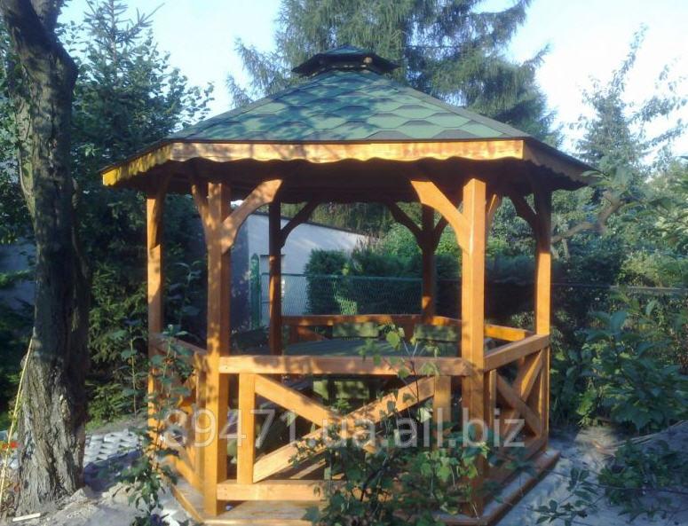 Заказать Построить деревянную беседку из ели