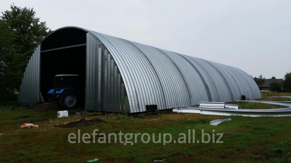 Заказать Строительство бескаркасных арочных сооружений