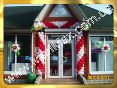 Заказать Оформление магазинов воздушными шарами