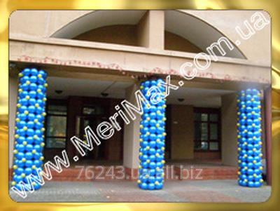 Заказать Оформление колонн воздушными шарами