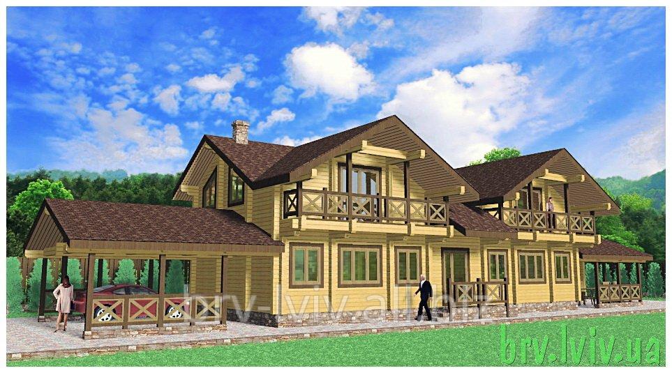 Заказать Архитектурное проектирование зданий, строительство из клееного бруса