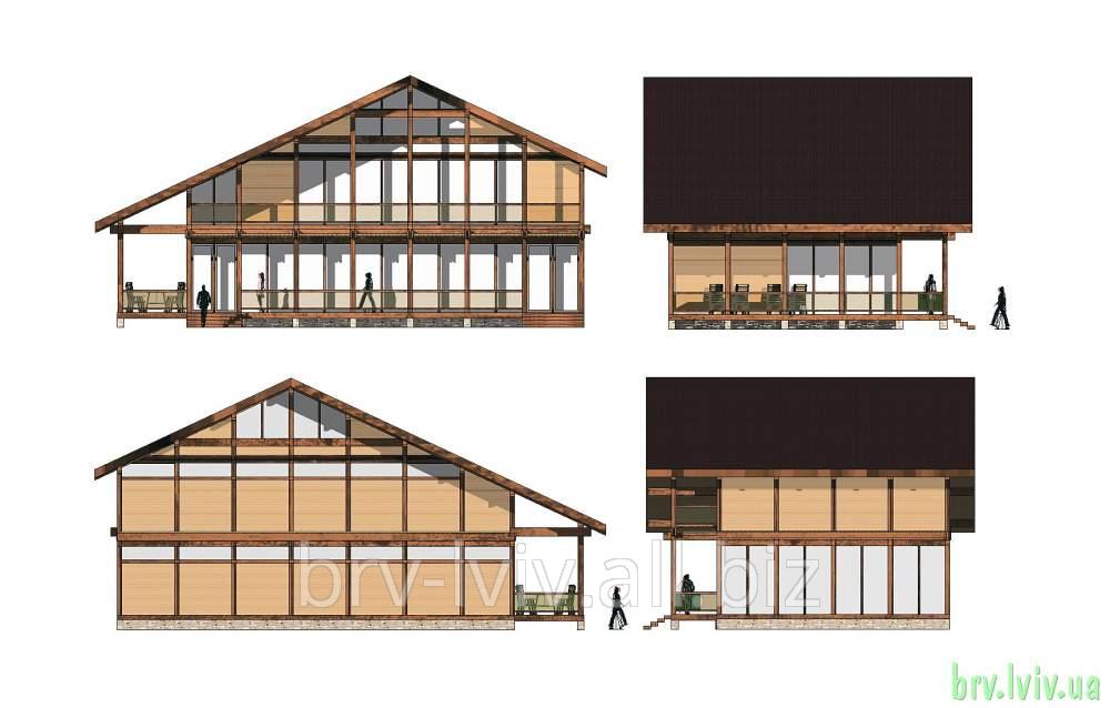 Заказать Деревянно-каркасные дома от производителя, строительство домов Львов