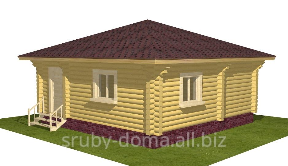 Заказать Строительство домов из дерева дикого сруба смереки в Украине. Акция - 1350 грн. за м² по стене.