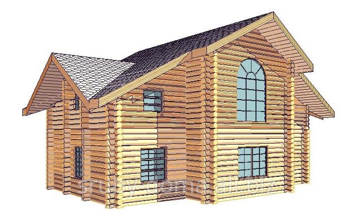 Заказать Акция - 1350 грн. за м² по стене.Строительство под ключ домов из дикого сруба в Украине.
