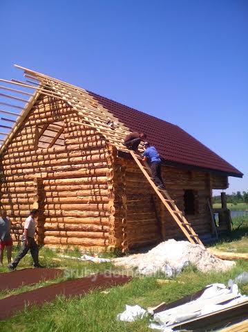 Заказать Акция - 1350 грн. за м² по стене. Есть готовые срубы для дома, дачного домика, коттеджа.