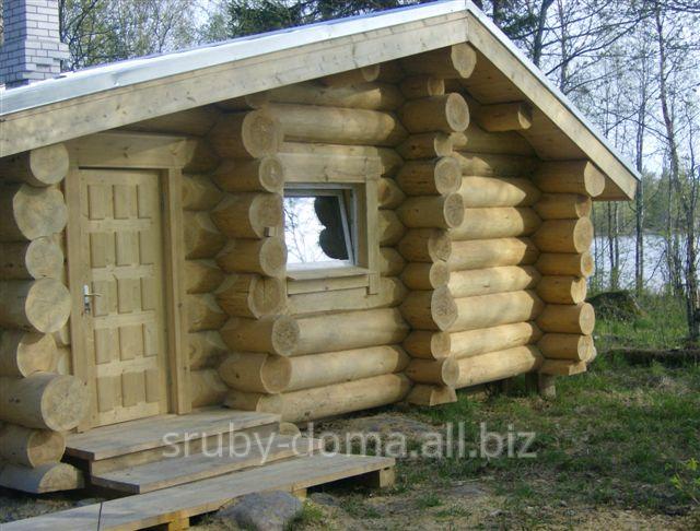 Заказать Строительство охотничьих домиков из дикого сруба по всей Украине. Есть готовые срубы на складе!
