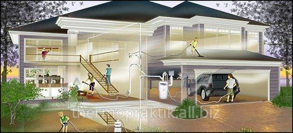 Монтаж центральных пылесосов