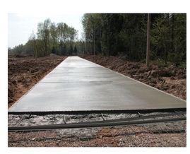 Заказать Устройство бетонной основы дороги