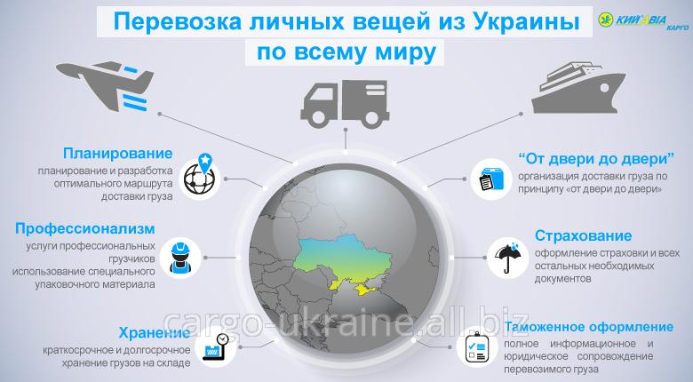 Перевозка личных вещей из Украины по всему миру