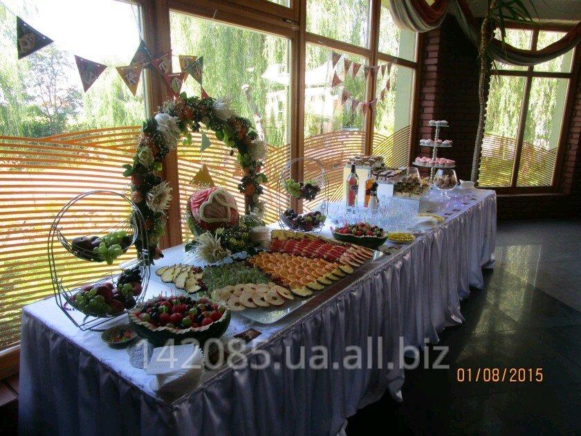 Заказать Оформлення, декорування та приготування фуршетних столів