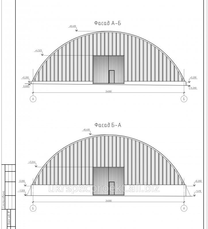 Заказать Проектирование ангаров, складов из легких металлоконструкций