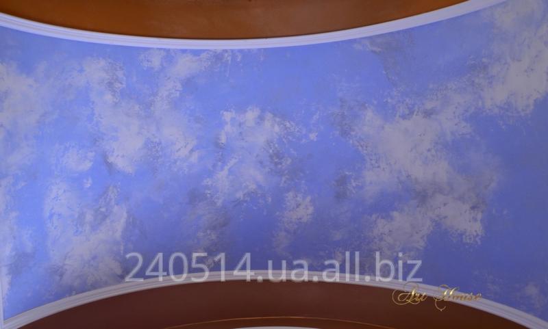 Заказать Покраска потолка с эффектом облаков