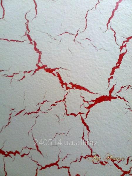 Заказать Нанесение на стены декоративного покрытия Кракелюр