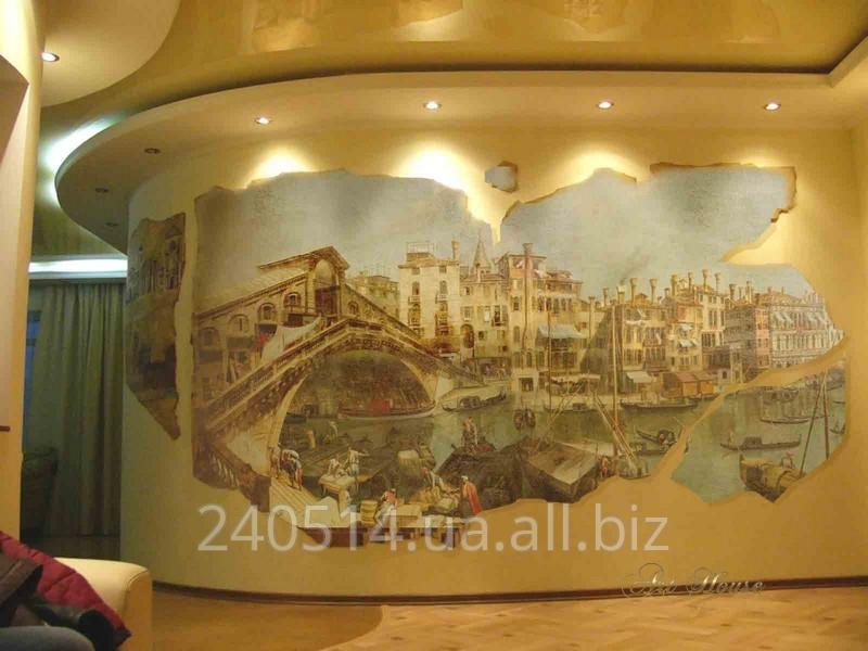 Заказать Декорирование стен пеереводными фресками